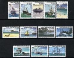 Cocos (Keeling) Islands 1976 Ships Set Of 12 U/m, SG 20-31 SHIPS CABLE - Cocos (Keeling) Islands