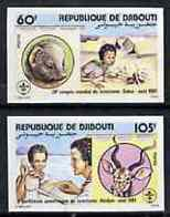 Djibouti 1981 Scouting Conference Set Of 2 Imperf From Limited Printing, As SG 820-21* SCOUTS - Djibouti (1977-...)