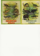 NEVIS - FAUNE PREHISTORIQUE  - 2 BLOCS NEUF XX -N° 1868 A 1873 +N° 1874 A 1879 - ANNEE 2005 - St.Kitts-et-Nevis ( 1983-...)
