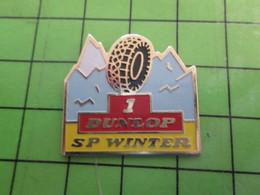 513e Pin's Pins / Beau Et Rare : Thème AUTOMOBILE : PNEUS DUNLOP SP WINTER - Badges