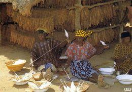 1 AK Tschad République Du Tchad * Frauen Beim Spinnen Von Baumwolle - IRIS Karte Nummer 8236 * - Tschad