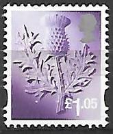 Scotland Thistles - 2016 £1.05  - Single Stamp - Regionali
