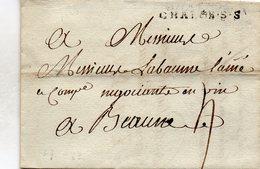 Saône-et-Loire - LAC Datée 24/11/1783 Marque (Lenain 7) CHALON.S.S (de Châlon) - Marcophilie (Lettres)
