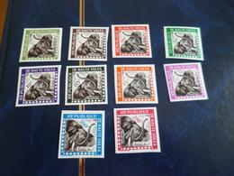 TP Haute Volta Sans Charnière Non Dentelé Imperfored Service N° 1 à 10 éléphants - Haute-Volta (1958-1984)