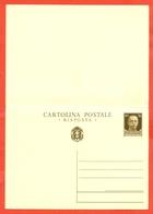 INTERI POSTALI I-CARTOLINE POSTALI-C83- NUOVA - BUONA QUALITA' - 1900-44 Vittorio Emanuele III