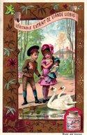 1 Liebig Card PARIS Edition With BLUE And RED Backside  S 378  Anno 1890 VG - Les Cygnes Au Bois De Boulogne R2 - Liebig