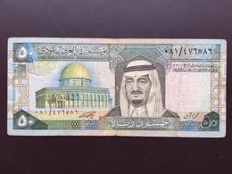 SAUDI ARABIA P24 50 RIYALS 1983 VG - Saudi-Arabien