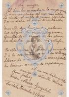 ENEOS ALVAREZ IGARZABAL. PERIODISTA. AUTOGRAPH SUR POSTCARD. CIRCA 1904 - BLEUP - Autographes