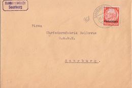 Lettre De Sarrebourg (T 329 Saarburg Lothr A) TP Lothr 8 Pf=local Le 3/1/41 Pour Sarrebourg - Postmark Collection (Covers)