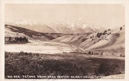 Carte 1936 TETONS FROM GROS VENTRE SLIDE-KELLY WYOMING - Etats-Unis
