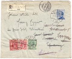 1920 R-Brief Aus Meran Nach Melchthal, Weitergeleitet Nach Luzern; Gebrauchsspuren - 1900-44 Victor Emmanuel III.