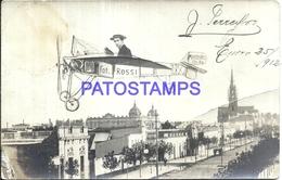 100663 ARGENTINA MERCEDES BUENOS AIRES VISTA PARCIAL & MAN IN AVIATION CURTAIN TELON POSTAL POSTCARD - Argentinien