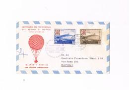 San Marino - Primo Volo - Trasporto Postale Con Pallone Aerostatico - Centenario Regno Di Napoli - Ottobre 1958 - Airmail