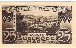 Deutschland Notgeld 25 Pfennig Mehl1292.1 SUDERODE Im HARZ /73M/ - [11] Emissions Locales