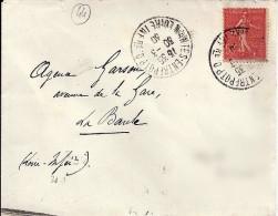 44 - LOIRE ATLANTIQUE - NANTES ENTREPOT P.O.  -  1930 -   TàD DE TYPE A4 - Marcophilie (Lettres)