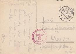 ÖSTERREICH 1943 - FELDPOST Ak SCHRUNS Mit Rotem DR-Stempel, Gel.v. Schruns > Wien - 1918-1945 1. Republik