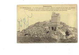 Cpa - Belgique - LA PANNE - Guerre 1914 - Maison En Ciment Armé D'un Espion Allemand Dynamite - Ruines Homme Parapluie - Belgique