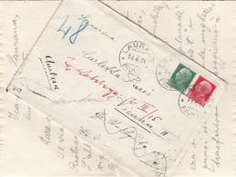 ITALIEN 1931 - 25 + 75 L Mit NACHPORTO Auf Brief (mit Inhalt) Gel.v. Laurana > Wien - 1900-44 Victor Emmanuel III.