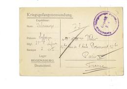 Cpa Correspondance Militaire - Camp De Prisonniers De Regensburg En Allemagne Pendant La Première Guerre - 1917 - War 1914-18