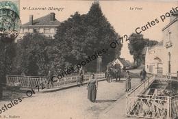 CPA [62] Pas De Calais > Saint Laurent Blangy - Le Pont - Animée - Saint Laurent Blangy