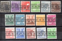 Serie De Alemania Bizona N ºYvert 21II/36II (*) - Zona Anglo-Américan