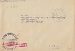 Lettre De Sarrebourg (T 329 Saarburg Westmark E) En Franchise Le 11/6/42 Pour Metz - Postmark Collection (Covers)