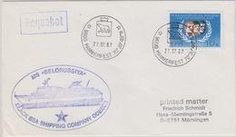 Russia 1987 Ship MS Belorussiay Ca Hammerfest 27.07.87 Cover (40813) - Poolshepen & Ijsbrekers