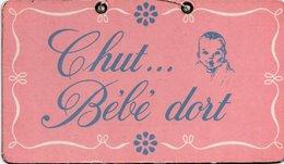PLAQUE PUBLICITAIRE GERBER  Chut ... Bébé Dort - Altri