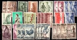 Nouvelle-Guinée Papouasie Petite Collection D'oblitérés 1952/1957. Bonnes Valeurs. B/TB. A Saisir! - Papouasie-Nouvelle-Guinée