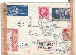 Lettre  France 1943 Pour La Turquie Cesure Censor Geoffnet Examiner - Marcophilie (Lettres)