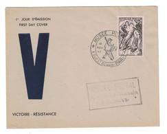 1947 - PEU COURANTE ENVELOPPE Avec OBLITERATION PREMIER JOUR FDC Du TIMBRE RESISTANCE N° 790 V VICTOIRE - ....-1949