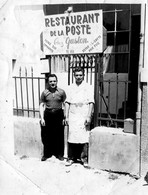Photo Ancienne -  Restaurant De La Poste -  Chez Gaston  -  Tél  153  -  Marseille ??? - Fotos