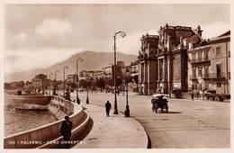 """1315 """" PALERMO FORO UMBERTO I - CALESSE,CRRI TRAINATI DA CAVALLI """"  CART. POST.  ANIMATA OR. NON SPED. - Palermo"""
