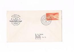 Ireland - Irlanda - First Transatlantic Flight - Dublin - Shannon - New York - 1958 - Airmail