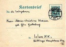 Kartenbrief Von Bregenz 22.07.1935 Nach Wien - 1918-1945 1. Republik