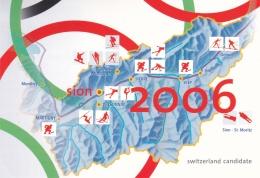 Switzerland Postal Stationary 1996 Nagano Olympic Games - FDC Cancel (G94-19) - Winter 1998: Nagano