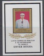 Albania 1985 Enver Hoxha M/s ** Mnh (40816E) - Albanië