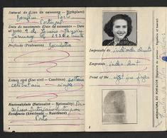 1954 BILHETE De IDENTIDADE Mulher BONFIM / PORTO. Identity Card Woman Document. CARTE D'IDENTITE Femme PORTUGAL - Documents Historiques