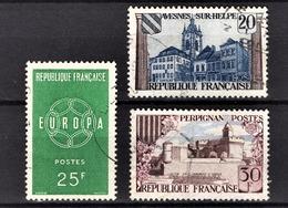 FRANCE 1959 - LOT / Y.T. N° 1218 / 1221 / 1222 - OBLITERES - Francia
