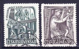 Tchécoslovaquie 1949 Mi 597-8 (Yv 515-6), Obliteré, - Used Stamps
