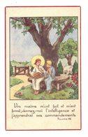 IMAGE PIEUSE RELIGIEUSE HOLY CARD SANTINI HEILIG PRENTJE ILLUSTRATEUR : Vos Mains M'Ont Fait - PEZENS Jeannette BERTRAND - Andachtsbilder