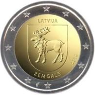 Letland-Lettonia 2018  2 Euro  Commemo  Regio Zemgale   UNC Uit De Rol  UNC Du Rouleaux  !! Leverbaar - Livrable !! - Letland