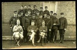 """Groupe De Soldats - Au Dos, Manuscrit """"Officiers Et Marechaux Des Logis De La C.R.T. 3 - 8 Déc. 1939 - CARTE-PHOTO - Guerre 1939-45"""