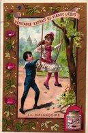 1 Liebig Card PARIS Edition With BLUE And RED Backside  S 378  Anno 1890 VG - LA BALANCOIRE Au Bois De Boulogne - R2 - Liebig