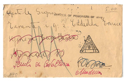 Biglietto Dai Prigionieri Di Guerra Della Seconda G.M. - Service Of Prisoners Of War - P.O.W. Camp - G.P.O. Bombay. 1941 - Italia