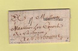 Toulouse - Haute Garonne - De Toulouse (Lenain N°3) - Courrier De 1722 - 1701-1800: Precursors XVIII
