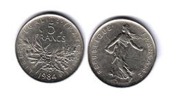 France  5 Francs 1984  5F - France
