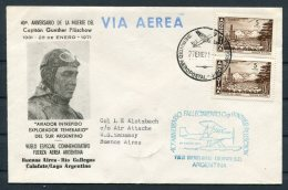 1971 Argentina Captain Gunther Pluschow. 40th Anniversary Calafate Expedition Flight Cover - Argentine