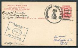 1942 Greenland USA 'American Base Forcs A.P.O. 809' Stationey Postcard Censor - Briefe U. Dokumente