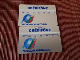 2 Phonecards Portugal Landis & Gyr 120 Units -109 H+ 203 D Used Rare - Portugal